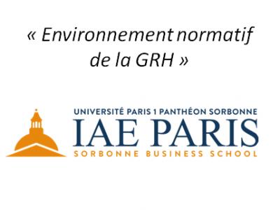 Environnement normatif de la GRH